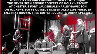 Movie Demo For Bike Night At Mickey's Tiki Bar Tonight Wed April 8th 2015 Featuring Molly Hatchet