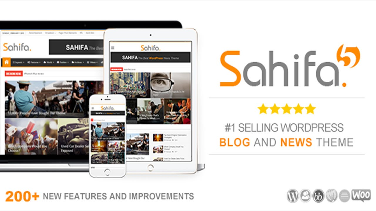 Sahifa Responsive Wordpress News Magazine Newspaper Theme V5