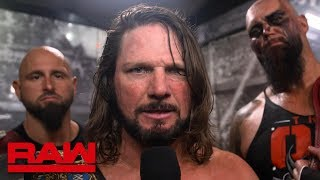 AJ Styles challenges Braun Strowman to a U.S. Title Match: Raw Exclusive, Aug. 12, 2019
