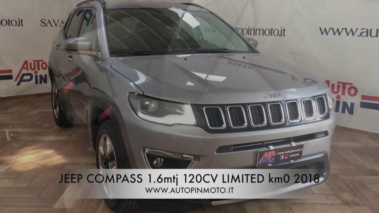jeep compass 1.6 mtj limited km0 2018 - youtube