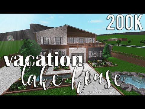Roblox Bloxburg Vacation Lake House 200k Youtube