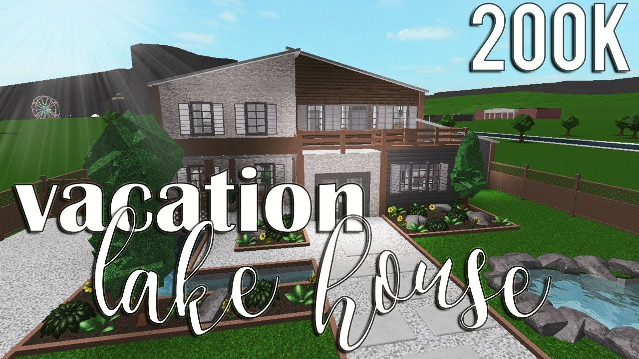 Roblox bloxburg vacation lake house 200k youtube for Build a house for 200k