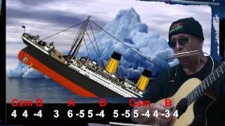 Nº 023 Titanic harmonica( E ) TAB + CHORDS GUITAR Mundharmonika