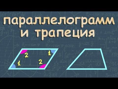 геометрия ПАРАЛЛЕЛОГРАММ И ТРАПЕЦИЯ 8 класс