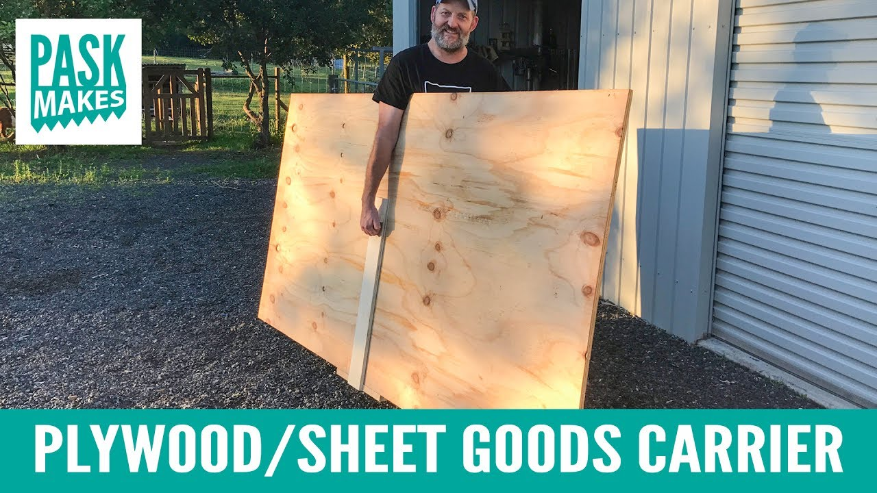 Plywood Sheet Goods Carrier Youtube