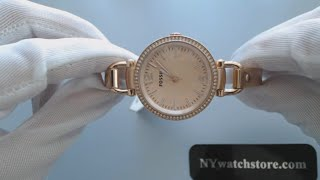 Women's Fossil Slim Georgia ES3226 Rose Gold Glitz Watch