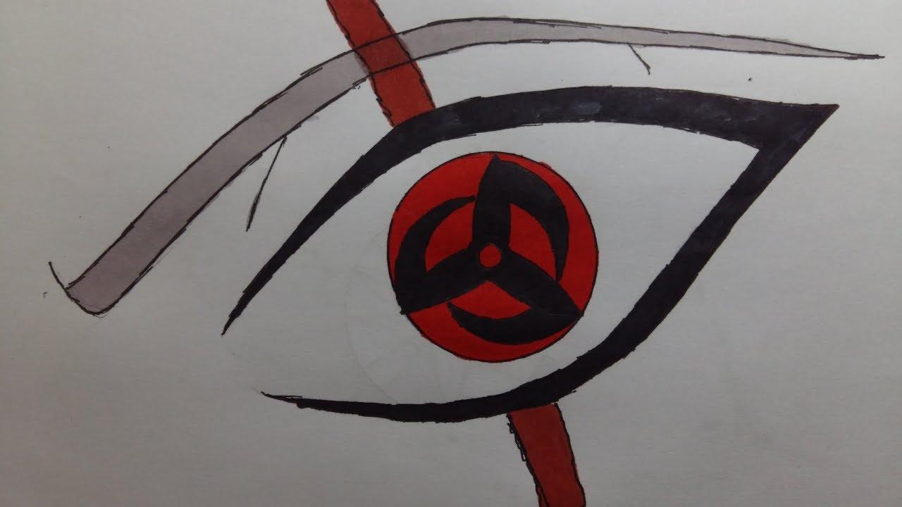 Vẽ Mangekyou Sharingan Kakashi/ Obito