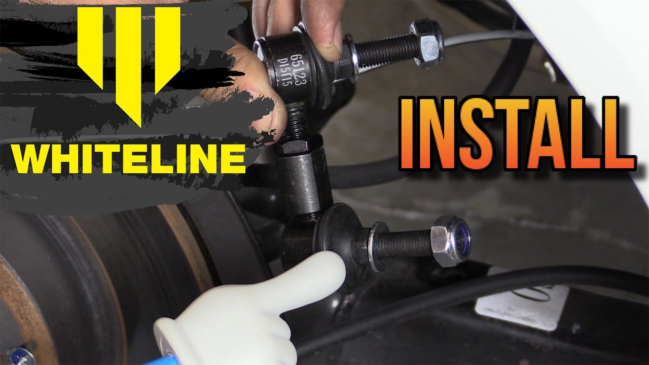 9th Gen Accord >> Whiteline Sway Bar End Links Install - Honda Civic 2012 2013 2014 2015 - YouTube