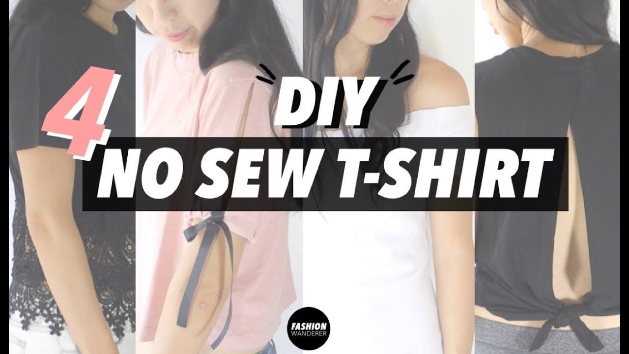 Diy T Shirt Refashion Easy No Sew
