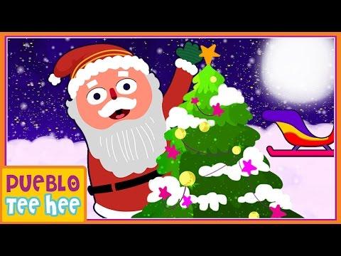 Cascabel - Jingle Bells in Spanish - y más Canciones Infantiles   Pueblo Teehee