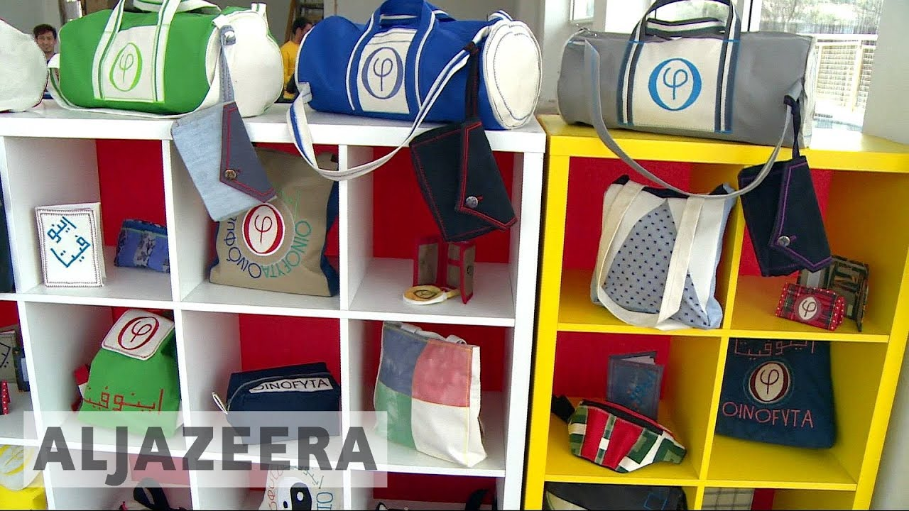 Refugee-made upcycled bag business thrives in Greece