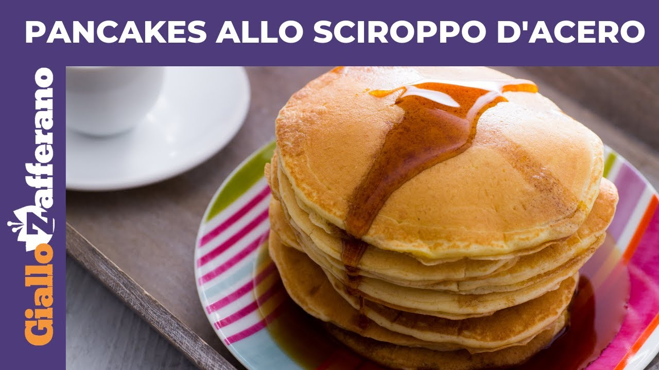 Ricetta Pancake Originali Americani.Pancakes Allo Sciroppo D Acero Ricetta Originale Facile Youtube