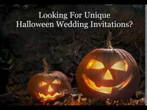 Halloween Wedding Invitations | Wording Ideas for Halloween Themed ...