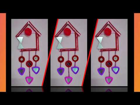 Diy Wall Hanging Making Use Of Waste Material || Waste material reuse idea