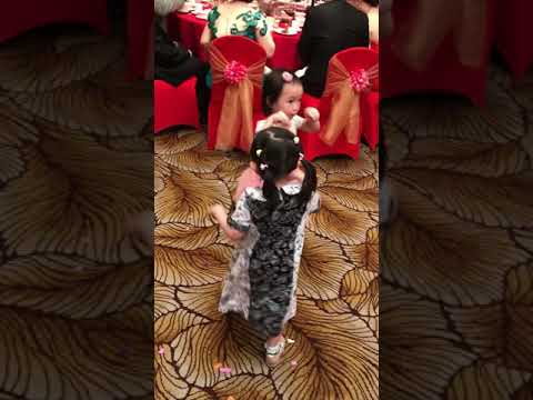 Dancing with strangers at wedding party