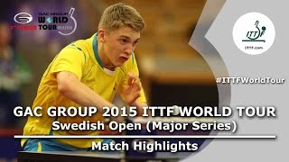 Swedish Open 2015 Highlights: KALLBERG Anton vs FAN Zhendong (1/4)