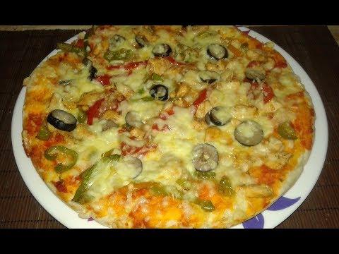 صورة  طريقة عمل البيتزا بيتزا الفراخ بكل بساطة وطعم المحلات بالظبط طريقة عمل البيتزا بالفراخ من يوتيوب