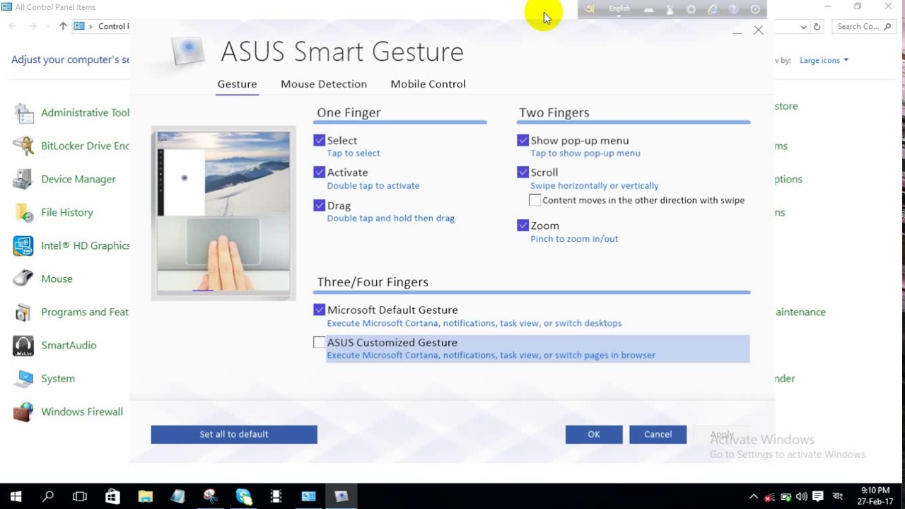 ASUS N551JKA Smart Gesture Driver for Windows
