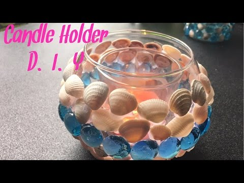 SEASHELL CANDLE HOLDER| D.I.Y EASY