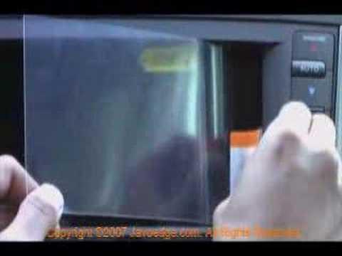Javoscreen: Car Navigation System Screen Protector Diy Video