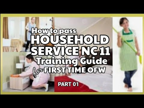 Guide in HOW TO PASS HOUSEHOLD SERVICE NC11 training