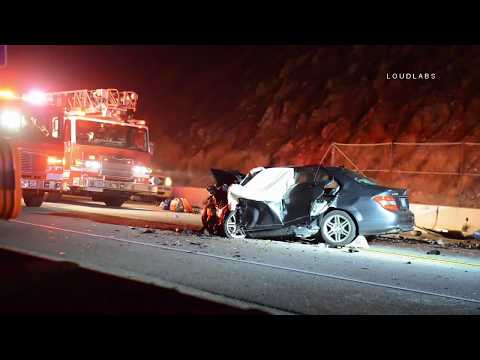 PCH Triple Fatal Crash / Point Mugu   RAW FOOTAGE