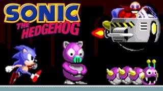 Sonic The Hedgehog (Ёжик Соник) прохождение (Sega Mega Drive, Genesis)