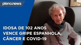 Baixar Idosa de 102 anos vence gripe espanhola, câncer e Covid-19 | PLENO.NEWS