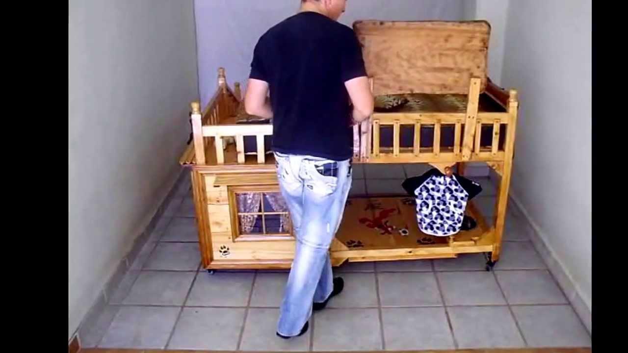 Cama litera doble para perros youtube for Camas para perros de madera