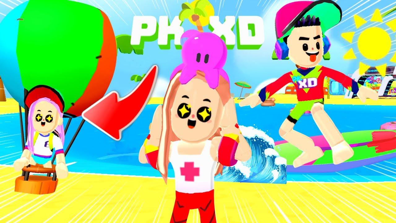 COMO SURFAR E VOAR NO BALÃO DA NOVA ATUALIZAÇÃO DO PK XD !!!