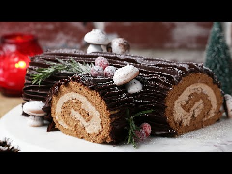 Bûche de Noël (A French Christmas Dessert)  •Tasty
