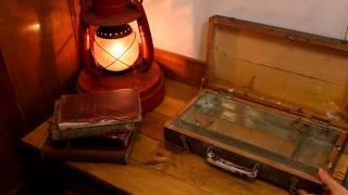 2012sj028 wooden Sketch Box 古い木製スケッチ箱