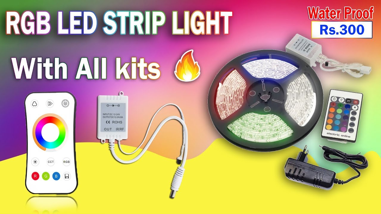 new styles 1f31f 6e371 🔥Waterproof 5 Meter RGB Multicolor Led Strip Light + Remote | Unboxing and  Review | Tamil 🙆