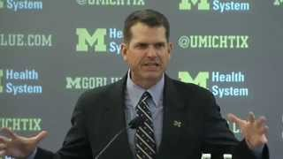 WATCH: Jim Harbaugh introduced as head coach at University of Michigan