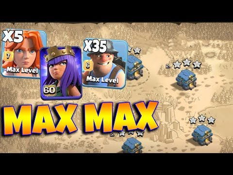 34 Max Miner 5 Max Valkyrie Level 60 Archer Queen New Attack TH12 Max 3 Star Strategy |Clash Of Clan