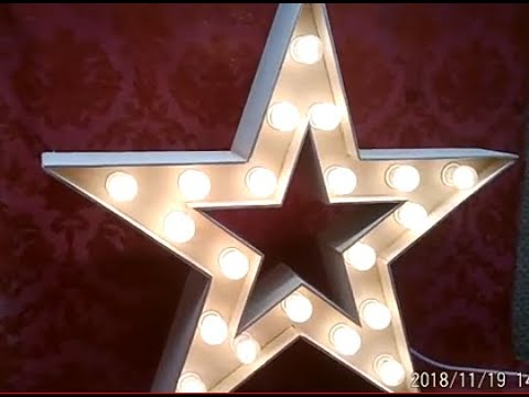 Деревянная звезда с лампочками своими руками