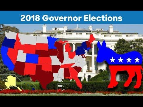 2018 Gubernatorial Prediction | 2018 Governor Elections | Democrat vs Republican