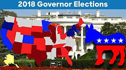 2018 Gubernatorial Prediction | 2018 Governor Elections | Democrat vs Republican