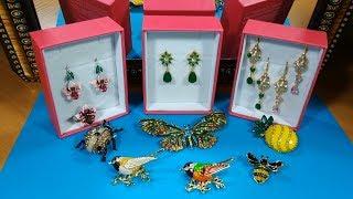 Обзор 72. Бижутерия aliexpress,Эмалевые серьги и кольцо орхидеи,Броши CINDY XIANG, недорогие серьги