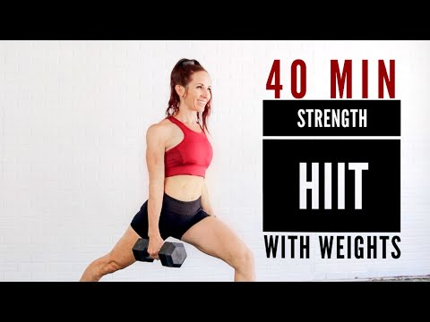 40 MIN FULL BODY STRENGTH HIIT With WEIGHTS / Build muscle to Lose Fat