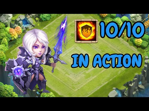 10/10 Flame Guard Rosaleen In Action L Castle Clash