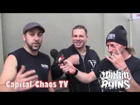 Within The Ruins (interview) in San Francisco 07/17/14 on CAPITAL CHAOS TV