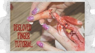 Halloween Degloved Finger Tutorial SFX Makeup