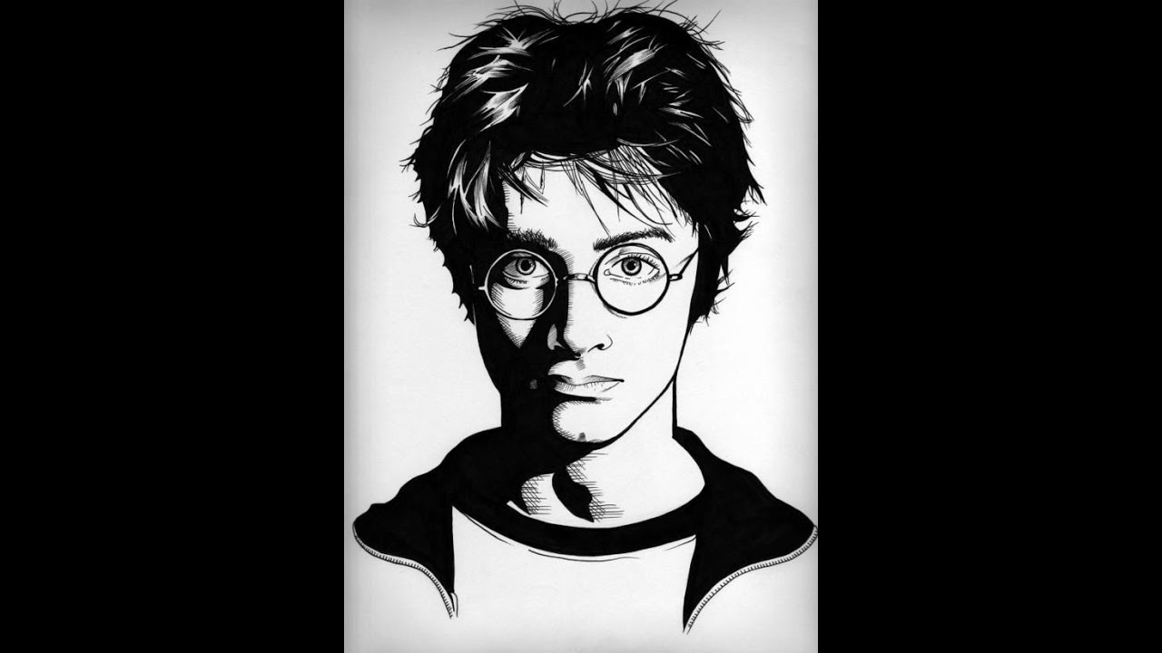 how to draw realistic harry potter characters