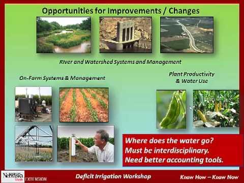 Deficit Irrigation Management 2012