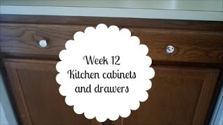 52 Week Organizing Challenge week 12 kitchen drawers and cabinets