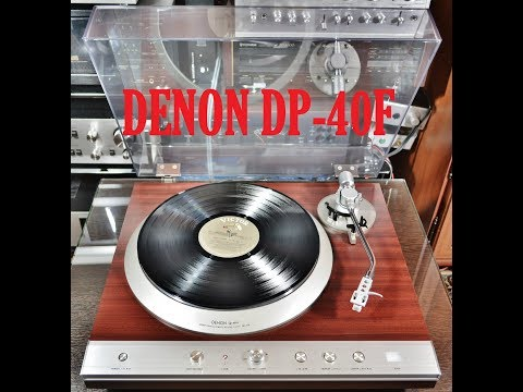 DENON DP-40F. Video review with disassembly, видеообзор с разборкой аппарата.