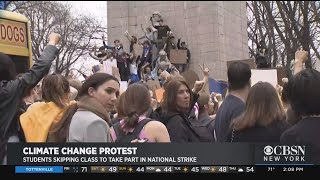NYC Students Strike From Classes For Climate Change Protest
