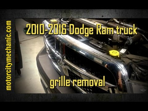 2010 2016 Dodge Ram Truck Grille Replacement Youtube