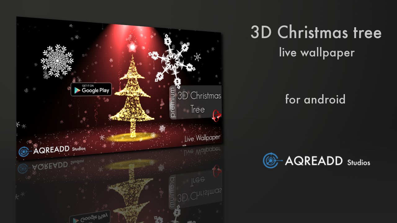 3D Christmas Tree Live Wallpaper For Android